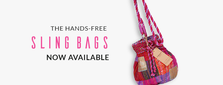 The hands-free sling bag Now Available!